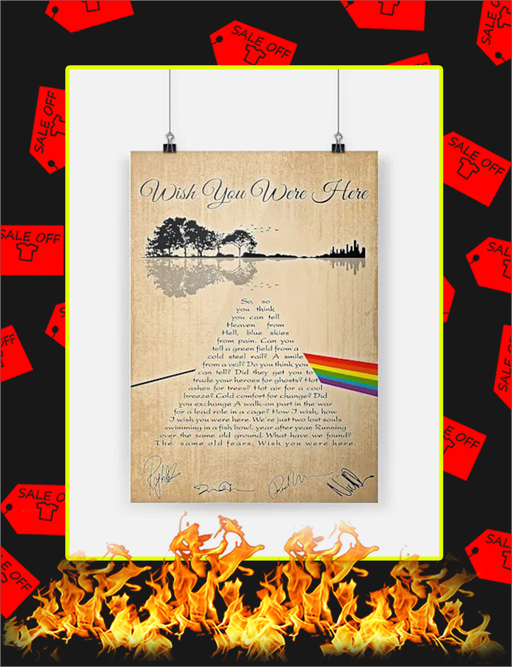 Wish You Were Here Poster - A4
