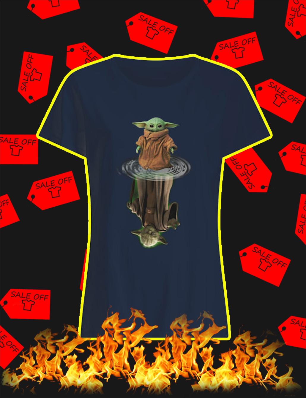 Yoda Reflection lady shirt