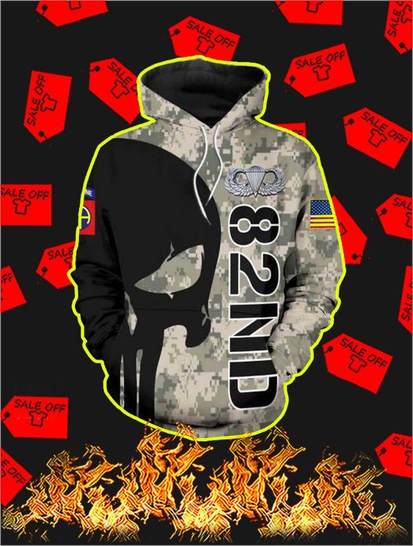 3D Printed 82nd Punisher Skull Hoodie