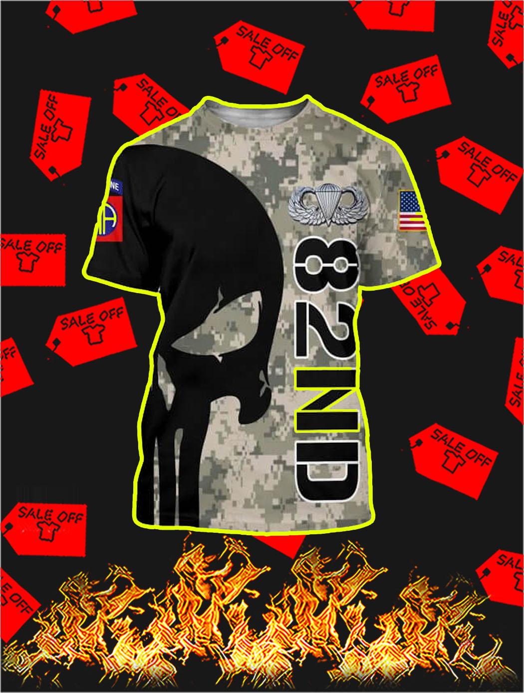 3D Printed 82nd Punisher Skull T-shirt