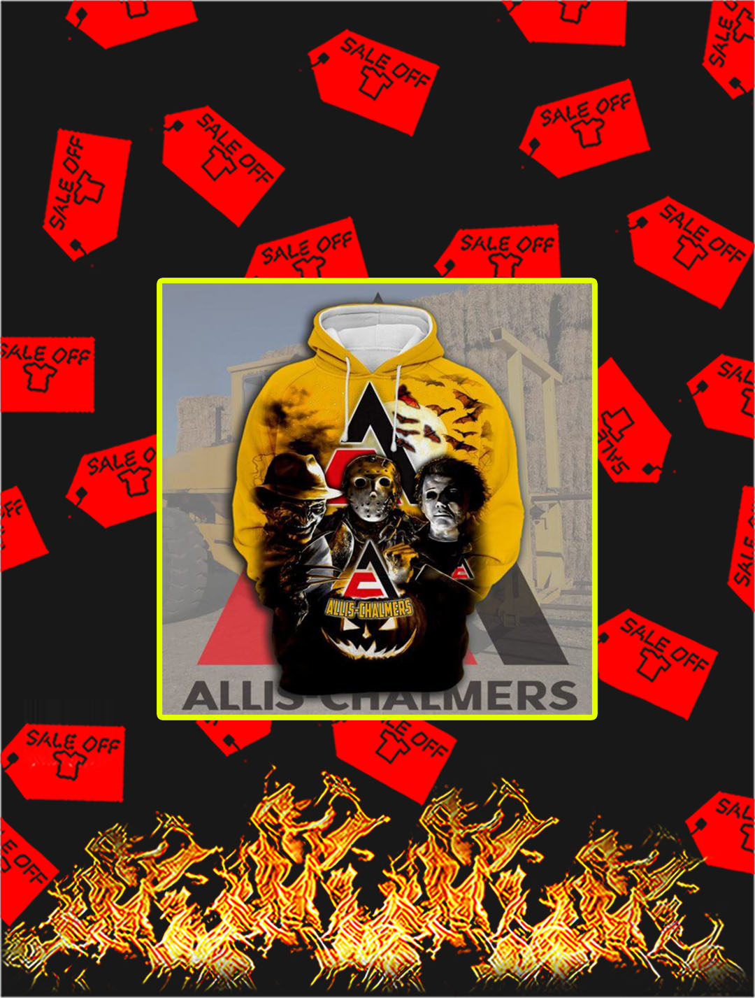 3D Printed Allis Chalmers Horror Halloween Hoodie- picture