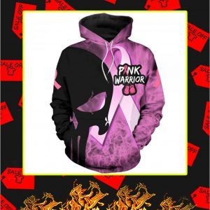 3D Printed Cancer Pink Warrior Punisher Skull Hoodie