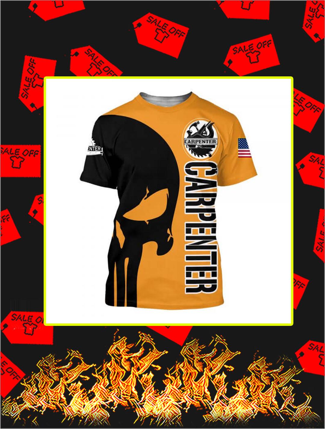 3D Printed Carpenter Punisher Skull T-shirt