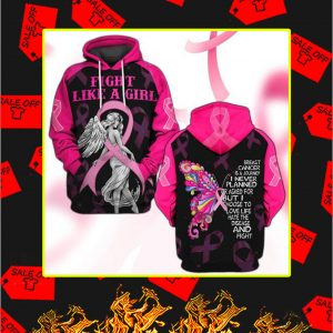 3D Printed Fight Like A Girl Breast Cancer Hoodie