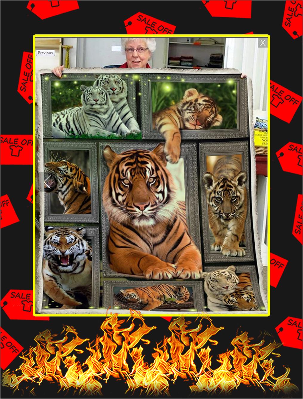 3D Tiger Blanket - large