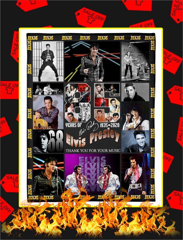 85 Years Of Elvis Presley 1935 2020 Thank You For Your Music Blanket