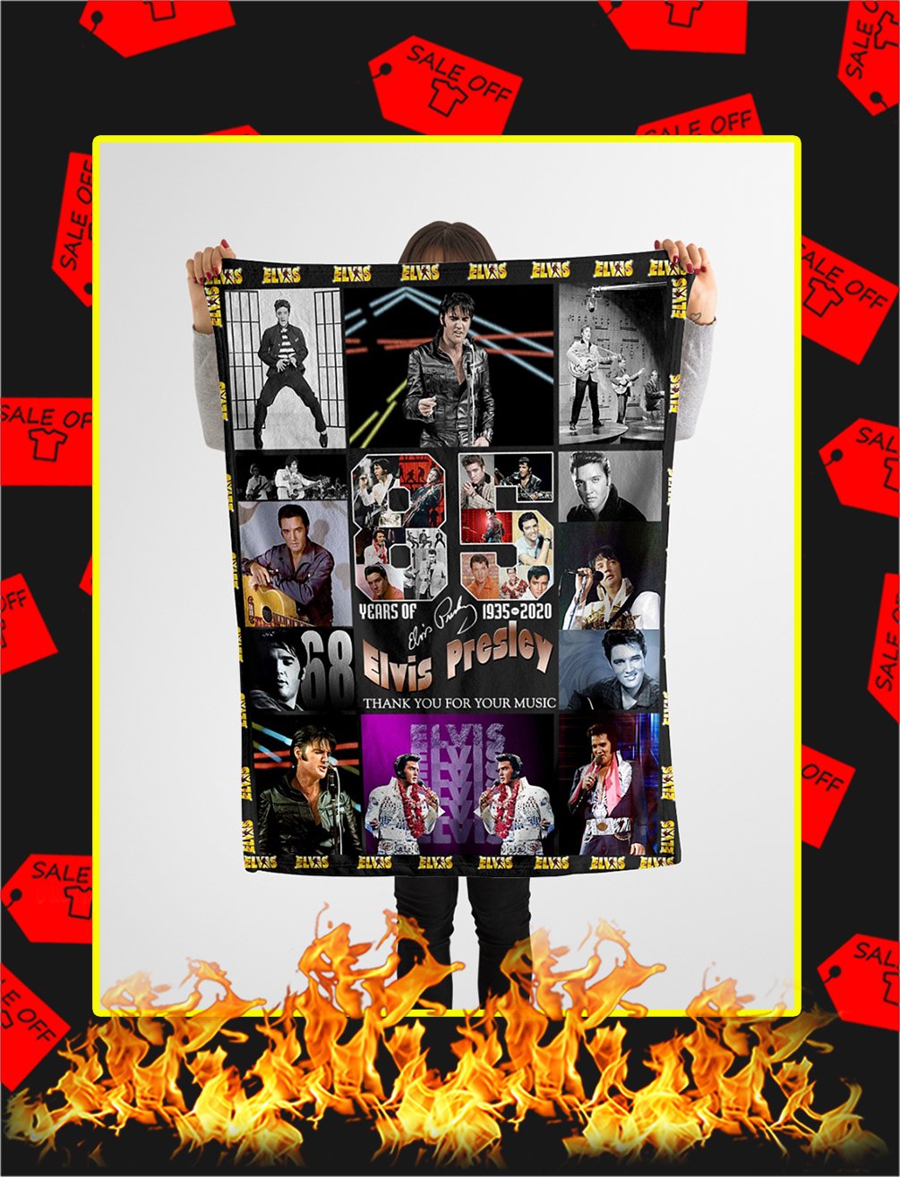 85 Years Of Elvis Presley 1935 2020 Thank You For Your Music Blanket- x large