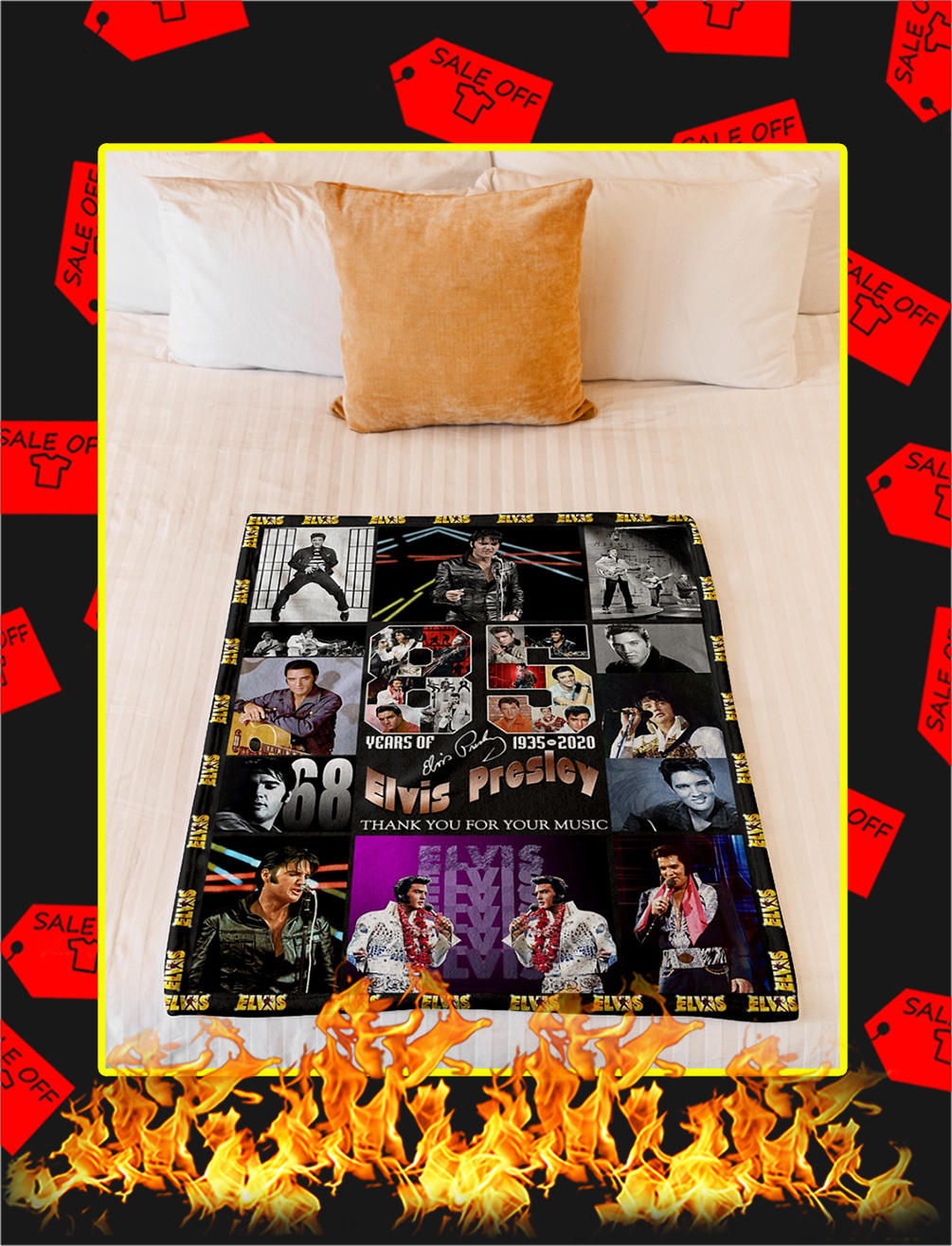 85 Years Of Elvis Presley 1935 2020 Thank You For Your Music Blanket- youth