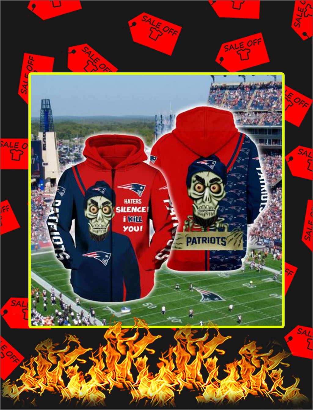 Achmed Patriots Haters Silence I Kill You Full Printing Zip Hoodie