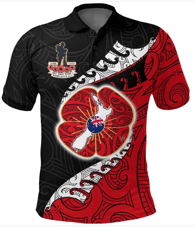 Anzac New Zealand 3D Polo T-shirt