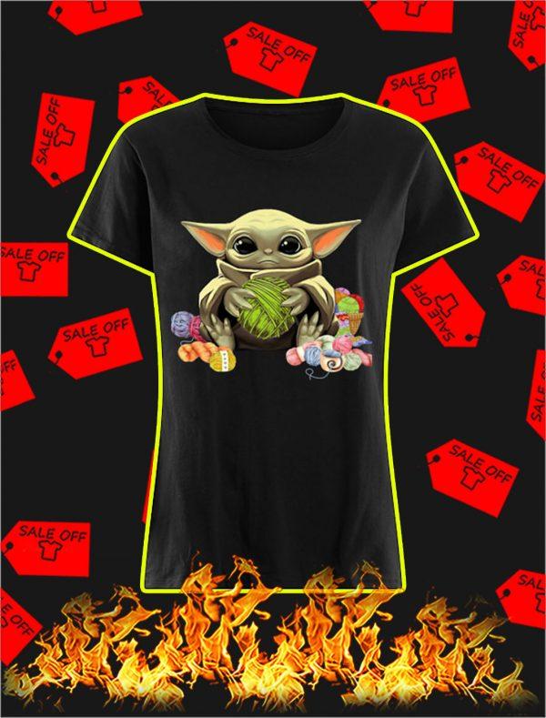 Baby Yoda with Yarn shirt