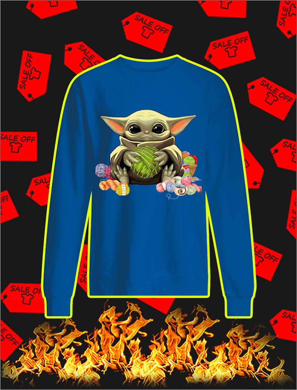 Baby Yoda with Yarn sweatshirt