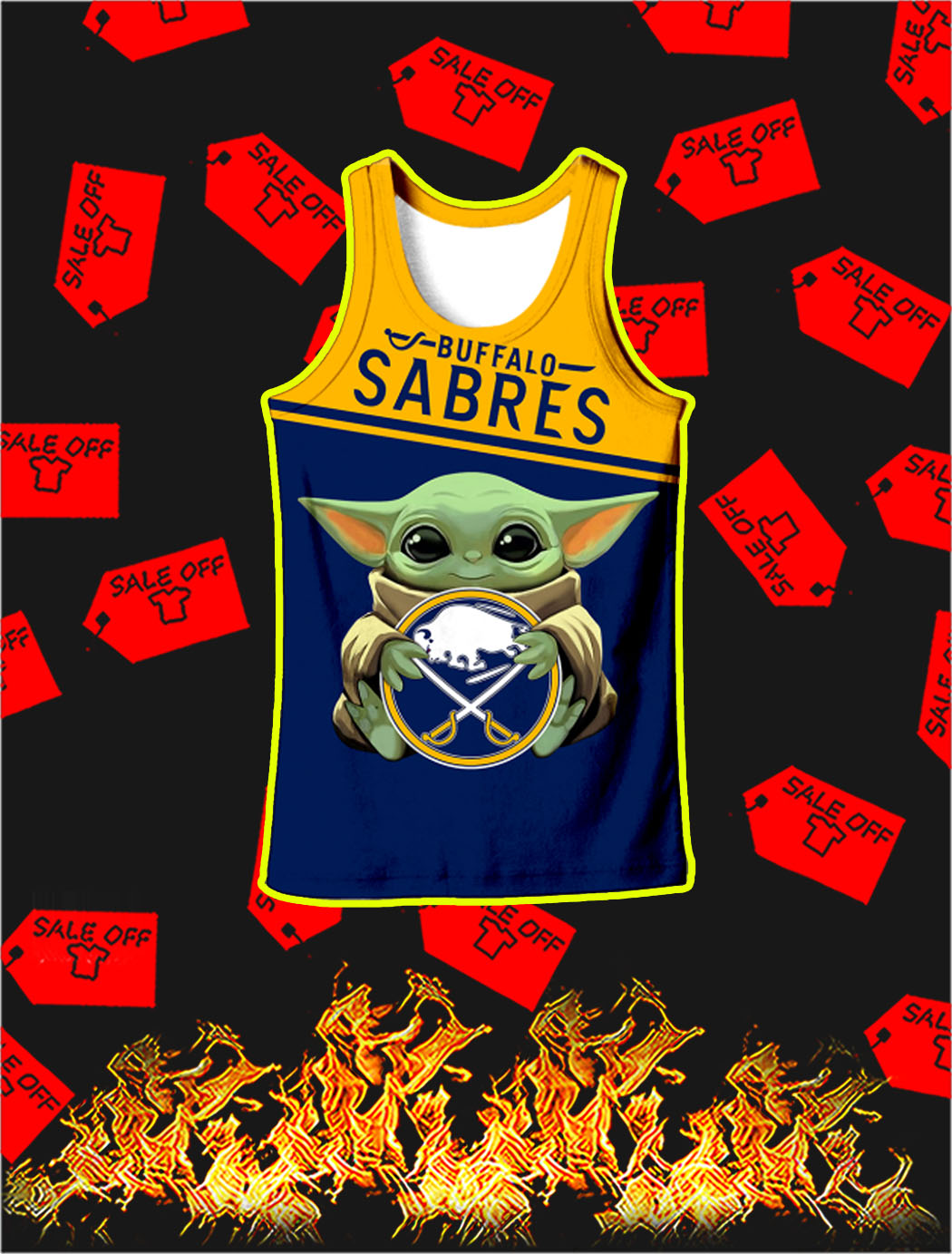 Buffalo Sabres Baby Yoda Full All Over Print Tank topBuffalo Sabres Baby Yoda Full All Over Print Tank top
