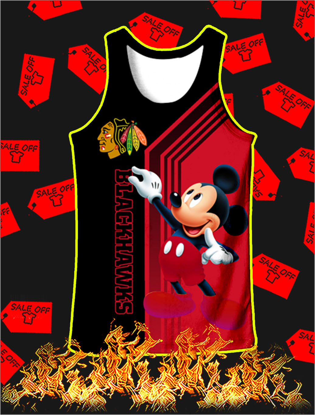Chicago Blackhawks Mickey Mouse Full All Over Print Tank top