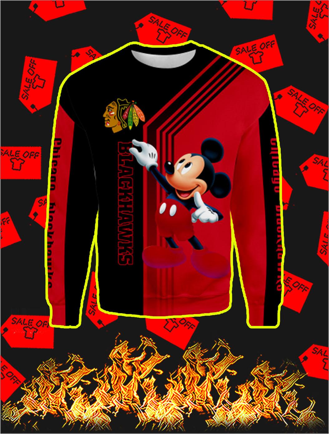 Chicago Blackhawks Mickey Mouse Full All Over PrintSweatshirt
