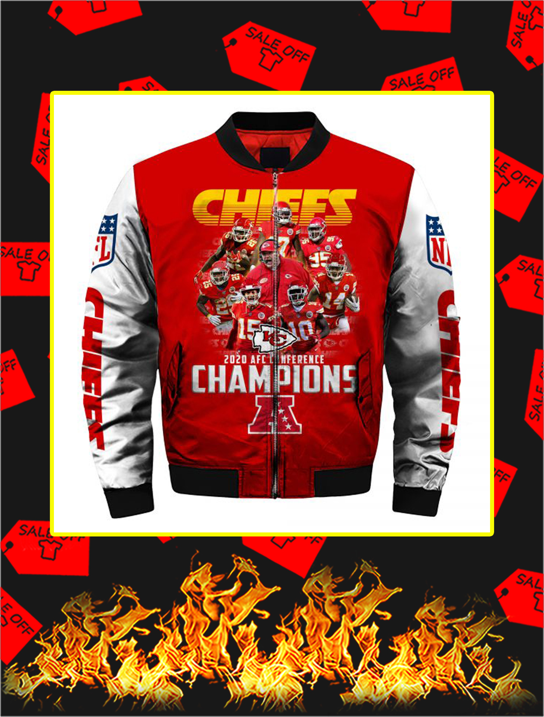 Chiefs 2020 AFC Conference Champions Full Printing Bomber