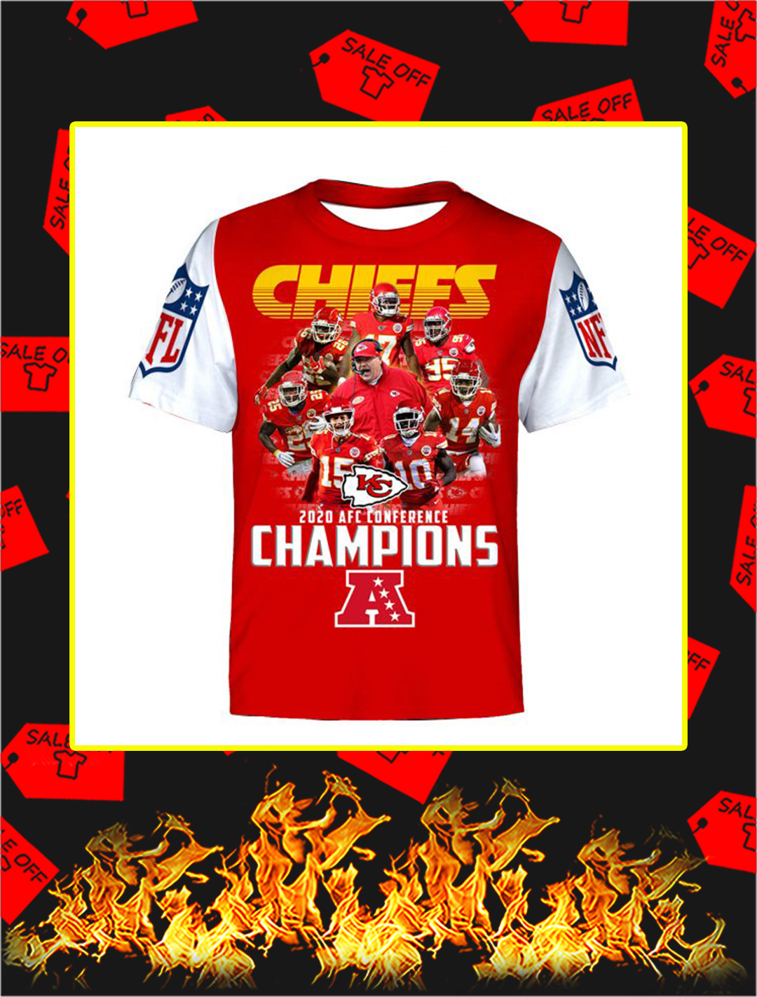 Chiefs 2020 AFC Conference Champions Full Printing T- shirt