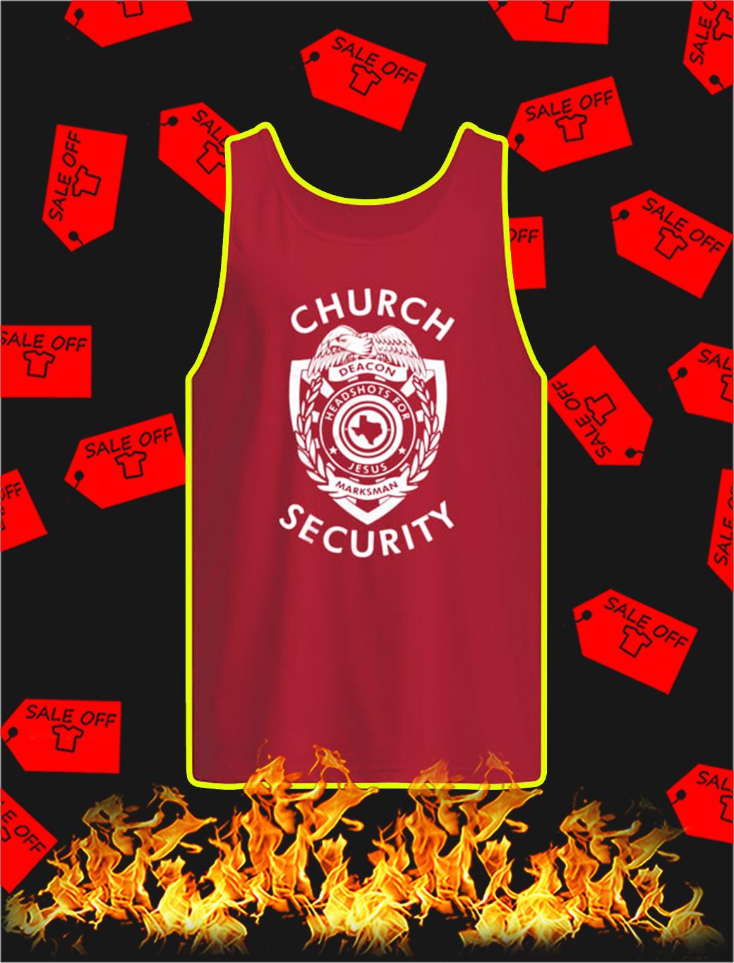 Church Security tank top
