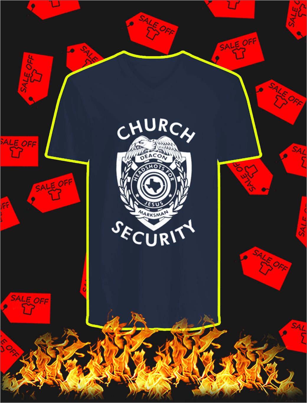 Church Security v-neck