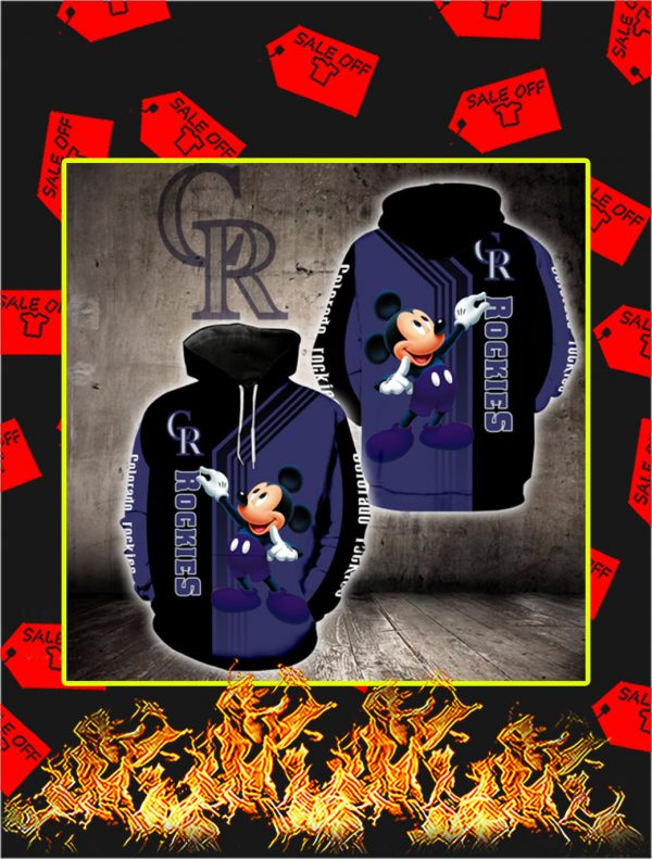 Colorado Rockies Mickey Mouse Full All Over Print Hoodie