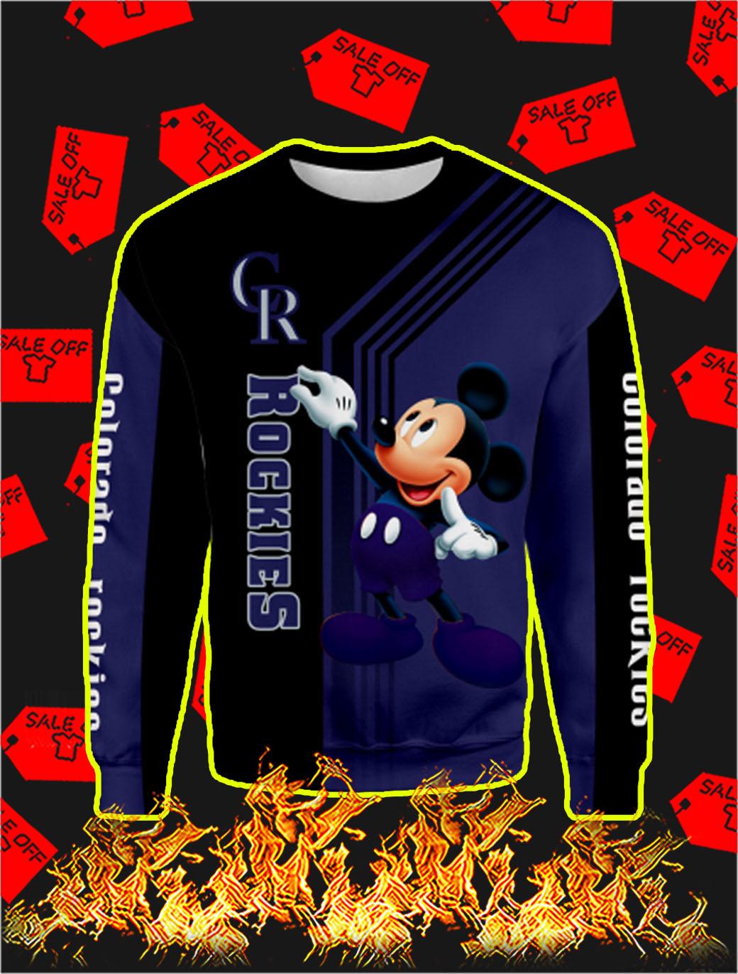 Colorado Rockies Mickey Mouse Full All Over Print Sweatshirt
