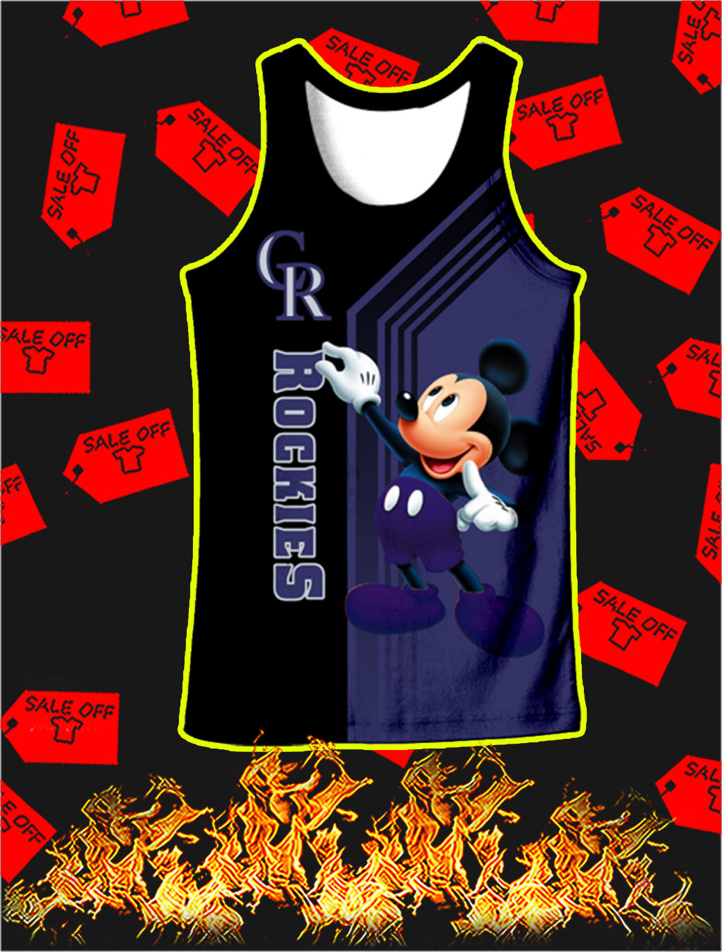 Colorado Rockies Mickey Mouse Full All Over Print Tank top