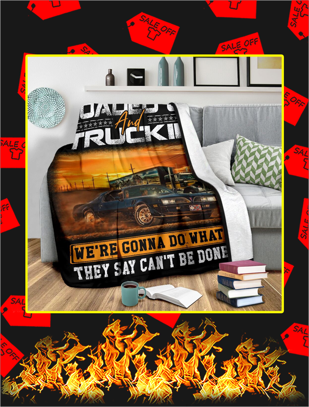 East Bound And Down Loaded Up And Truckin Blanket- large