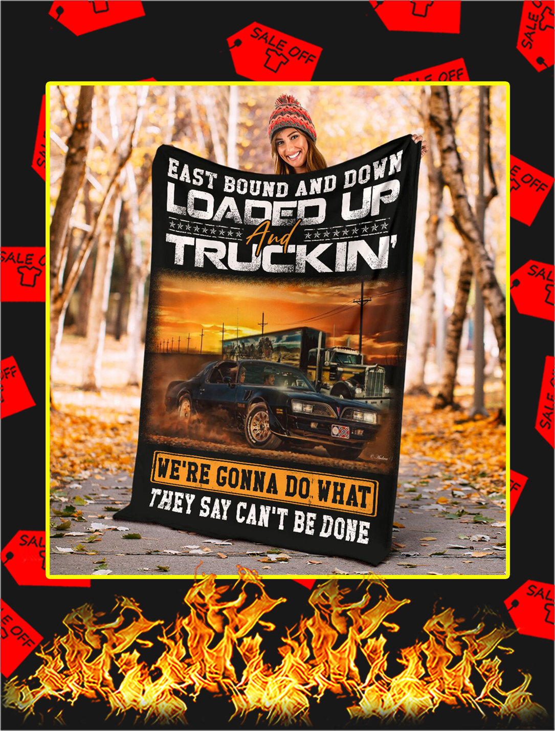 East Bound And Down Loaded Up And Truckin Blanket- youth