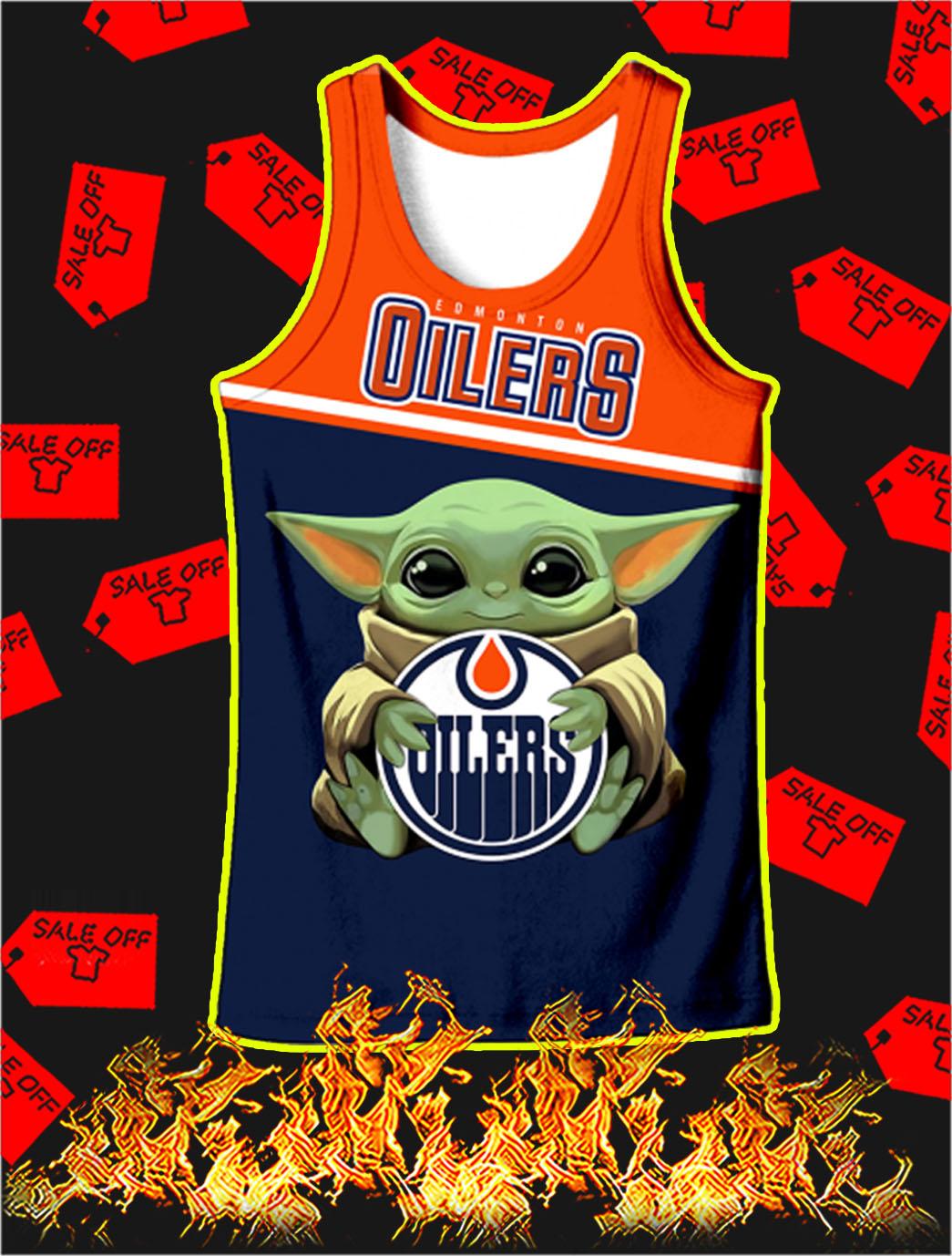 Edmonton Oilers Baby Yoda Full All Over Print Tank