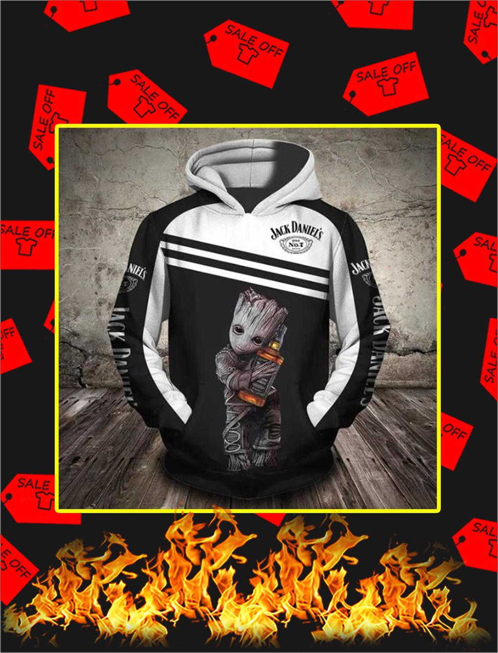 Groot Jack Daniels 3d hoodie - S