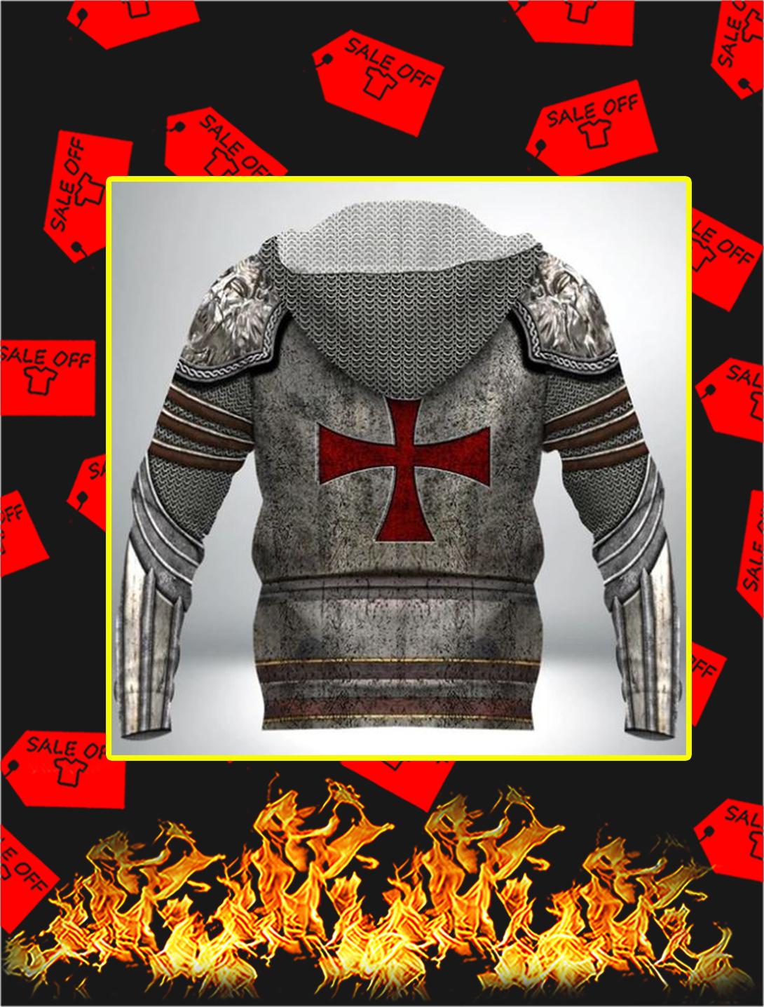 Knight Templar 3D Full Printing Hoodie- back