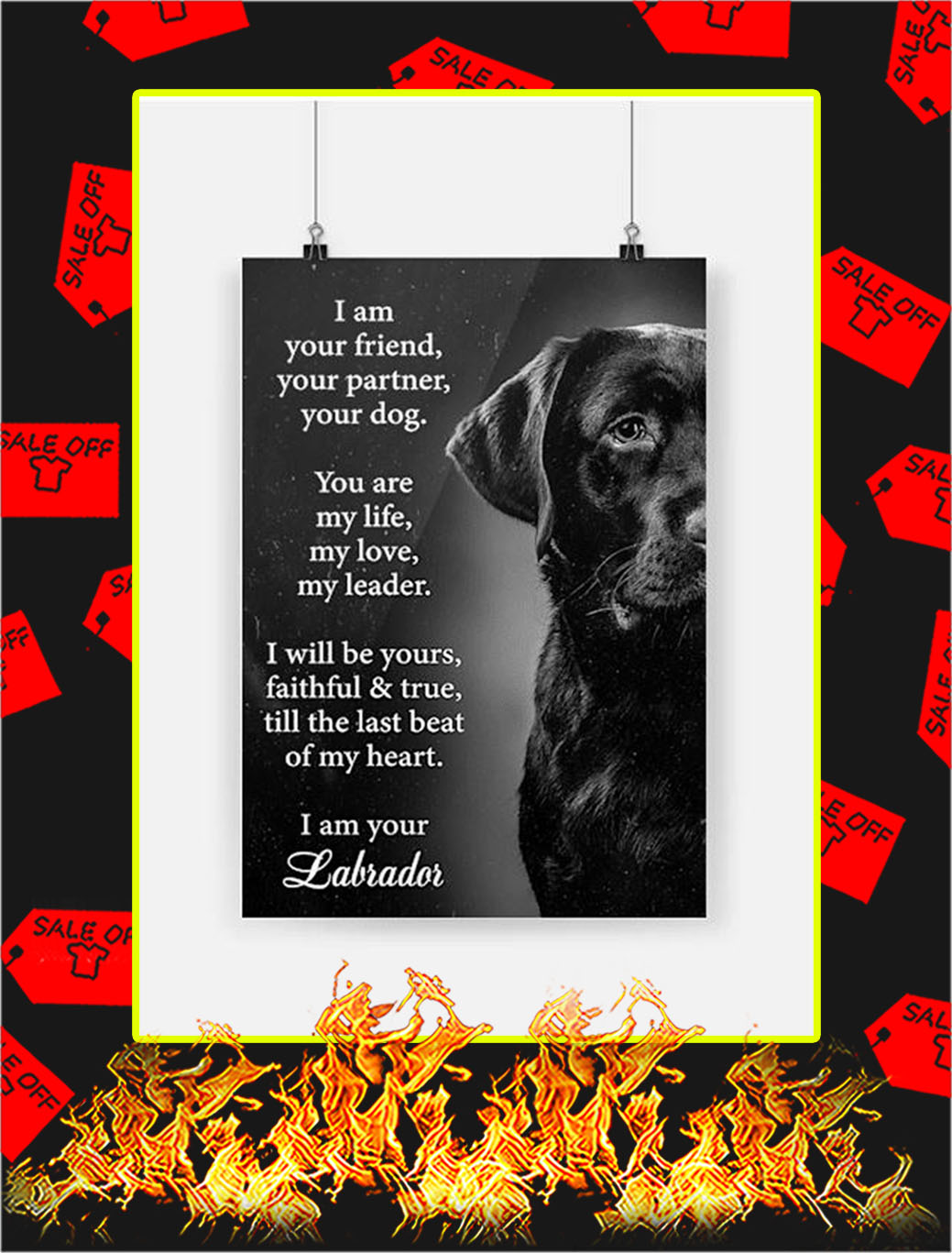 Labrador I Am Your Friend Poster - A3