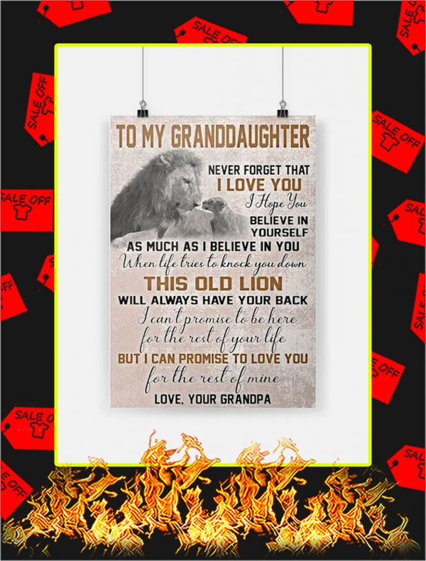 Lion To My Granddaughter Poster
