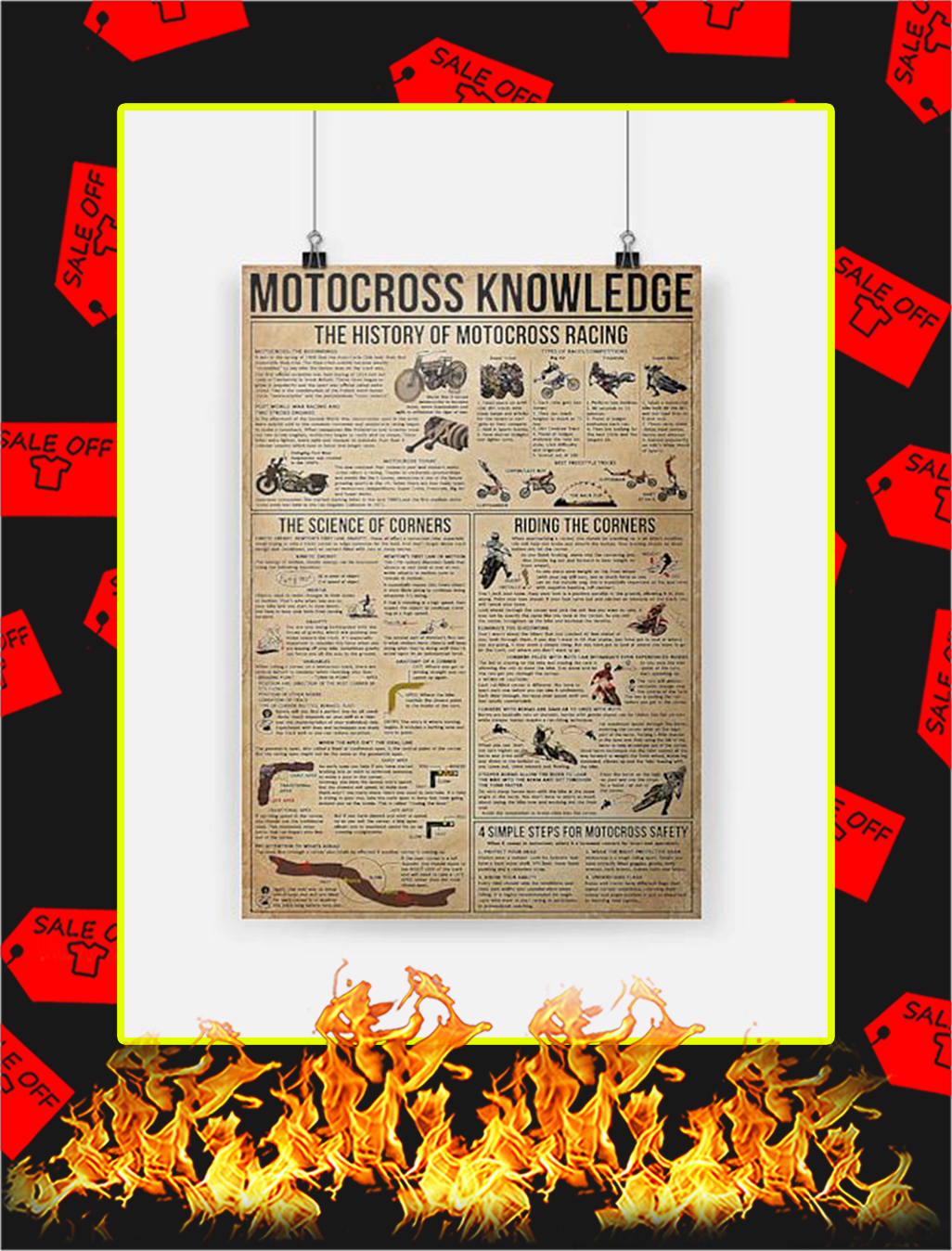 Motocross Knowledge Poster - A3