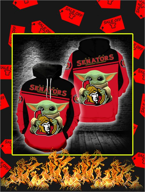 Ottawa Senators Mickey Mouse Full All Over Print Hoodie