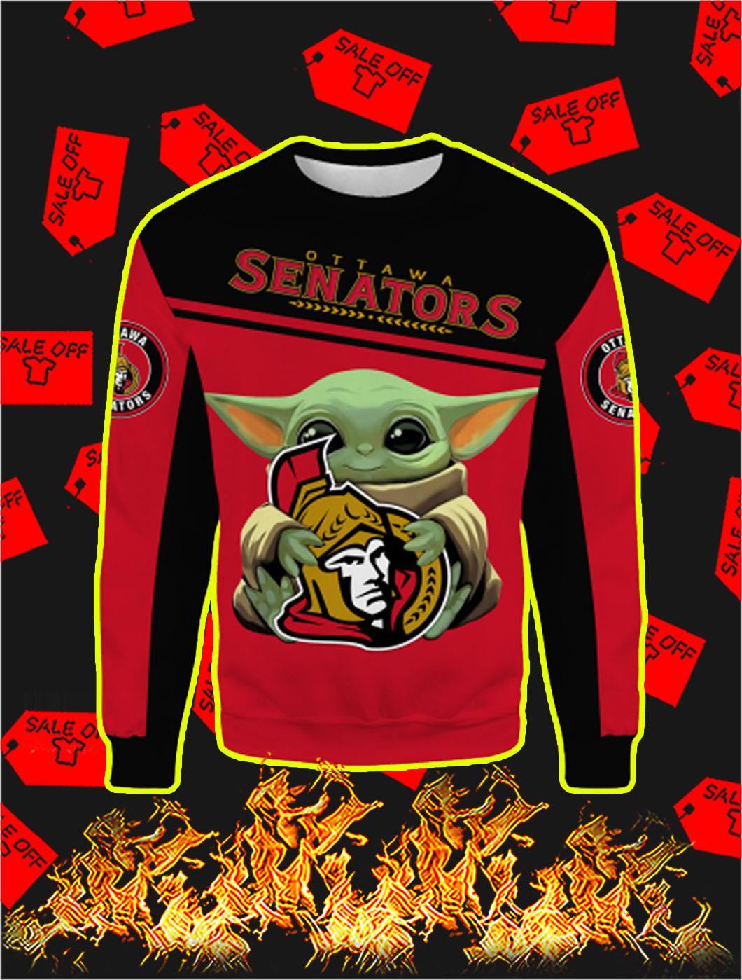 Ottawa Senators Mickey Mouse Full All Over Print Sweatshirt