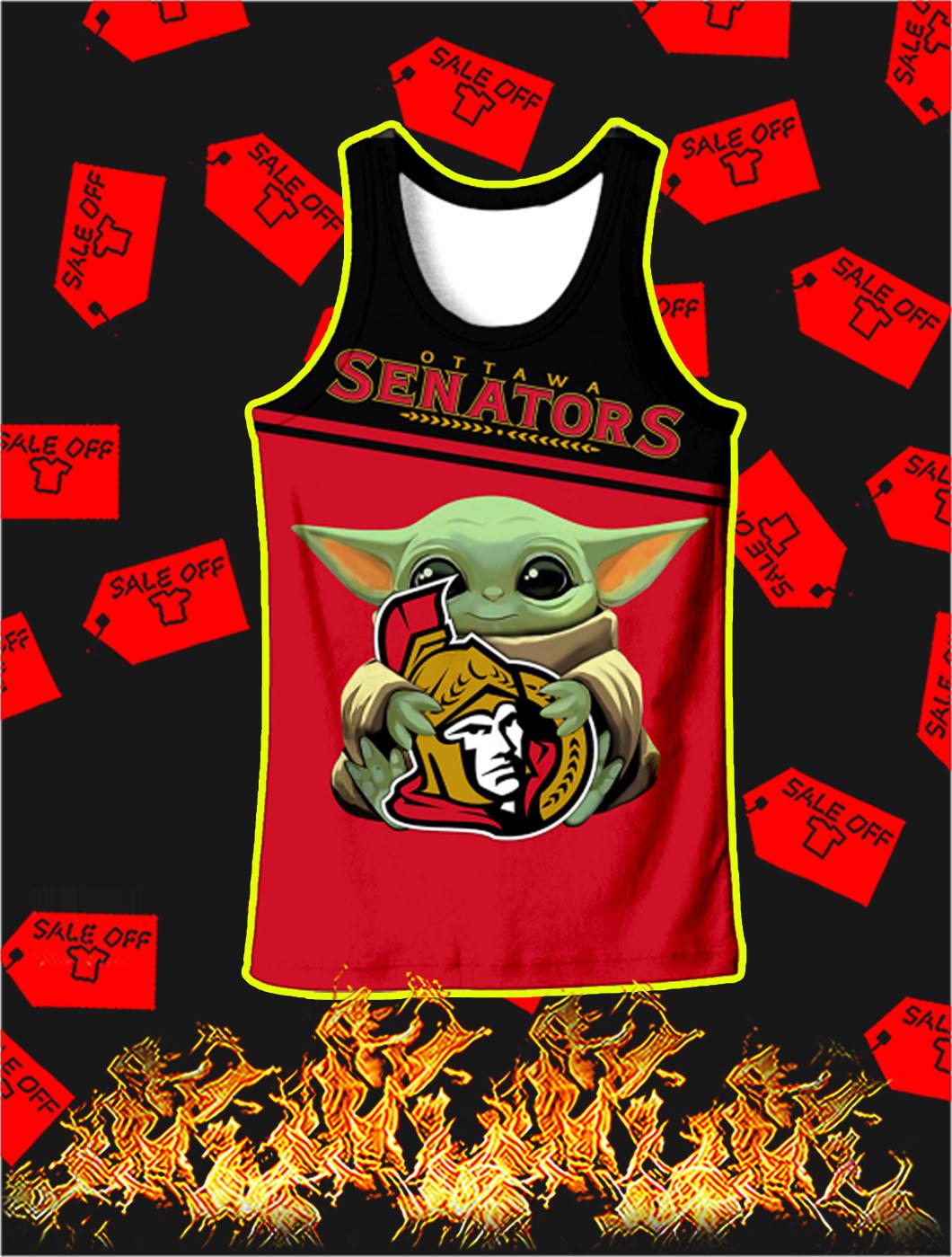 Ottawa Senators Mickey Mouse Full All Over Print Tank top