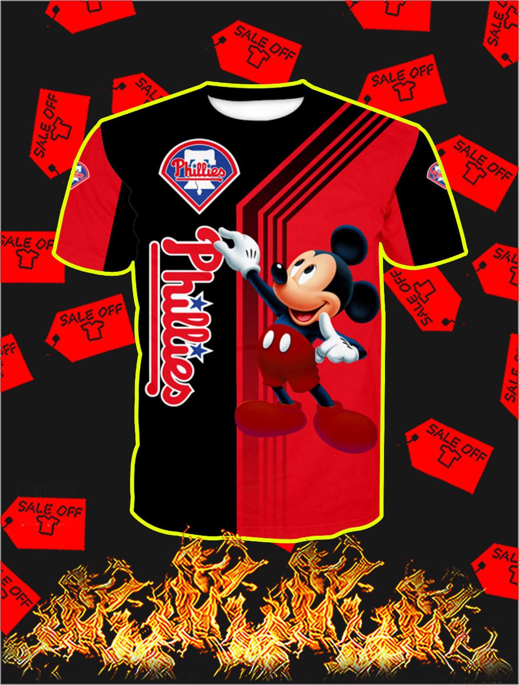 Philadelphia Phillies Mickey Mouse Full All Over Print T- shirt