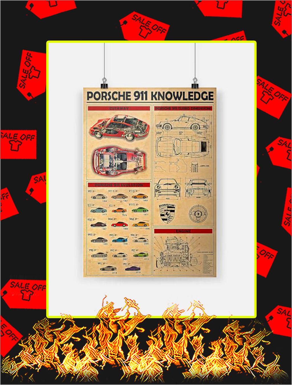 Porsche 911 Knowledge Poster - A4