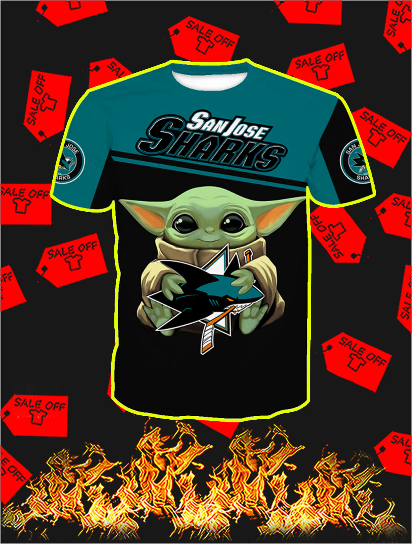 San Jose Sharks Baby Yoda Full All Over Print T- shirt