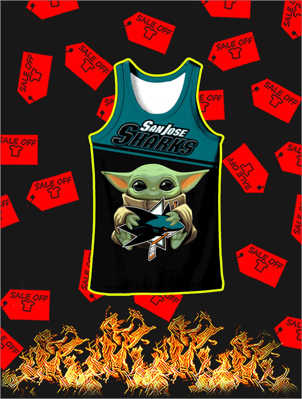 San Jose Sharks Baby Yoda Full All Over Print Tank top