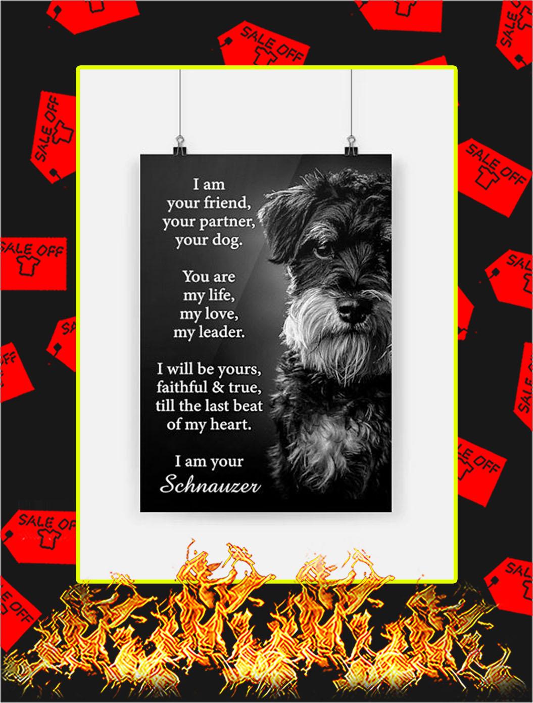 Schnauzer I Am Your Friend Poster - A3