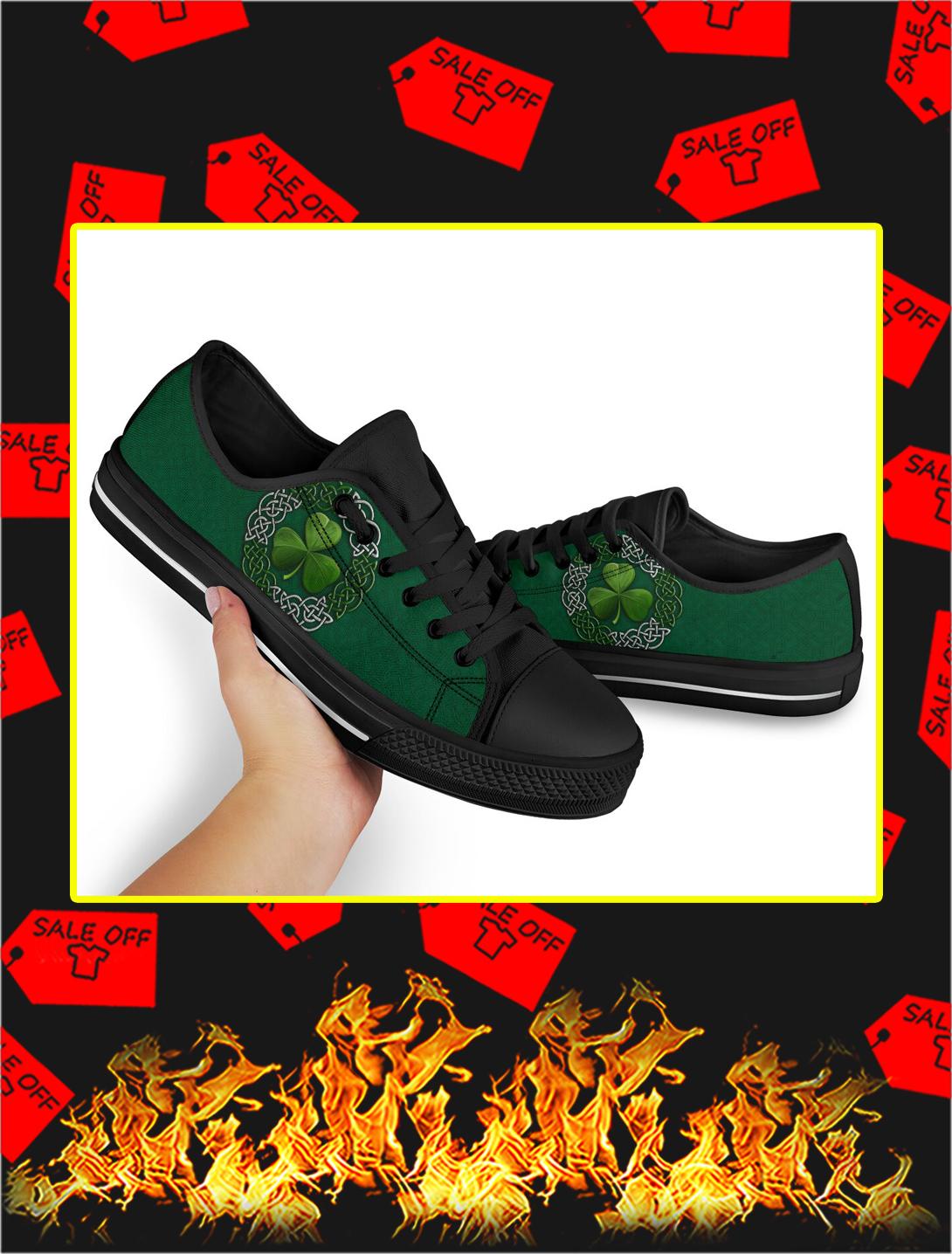 Shamrock St Patrick's Day Low Top Shoes- men