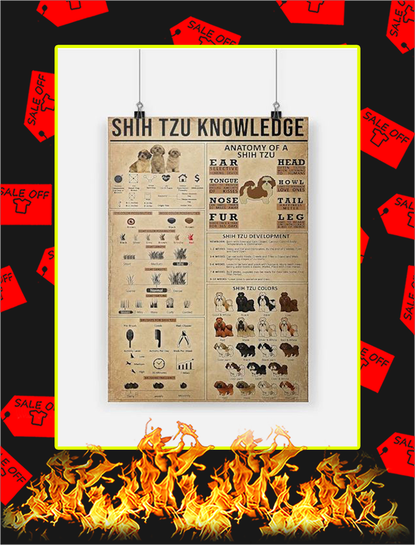 Shih Tzu Knowledge Poster - A3