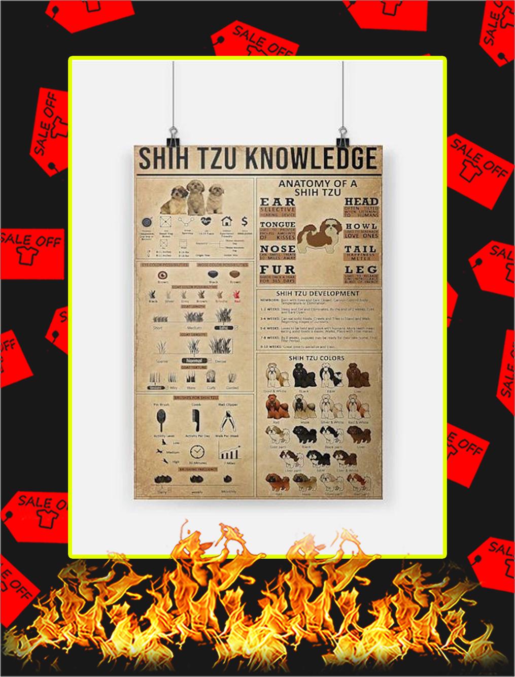Shih Tzu Knowledge Poster - A4