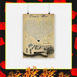 Simple Man Heart Guitar Poster