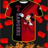 Texas Rangers Mickey Mouse Full All Over Print T-shirt