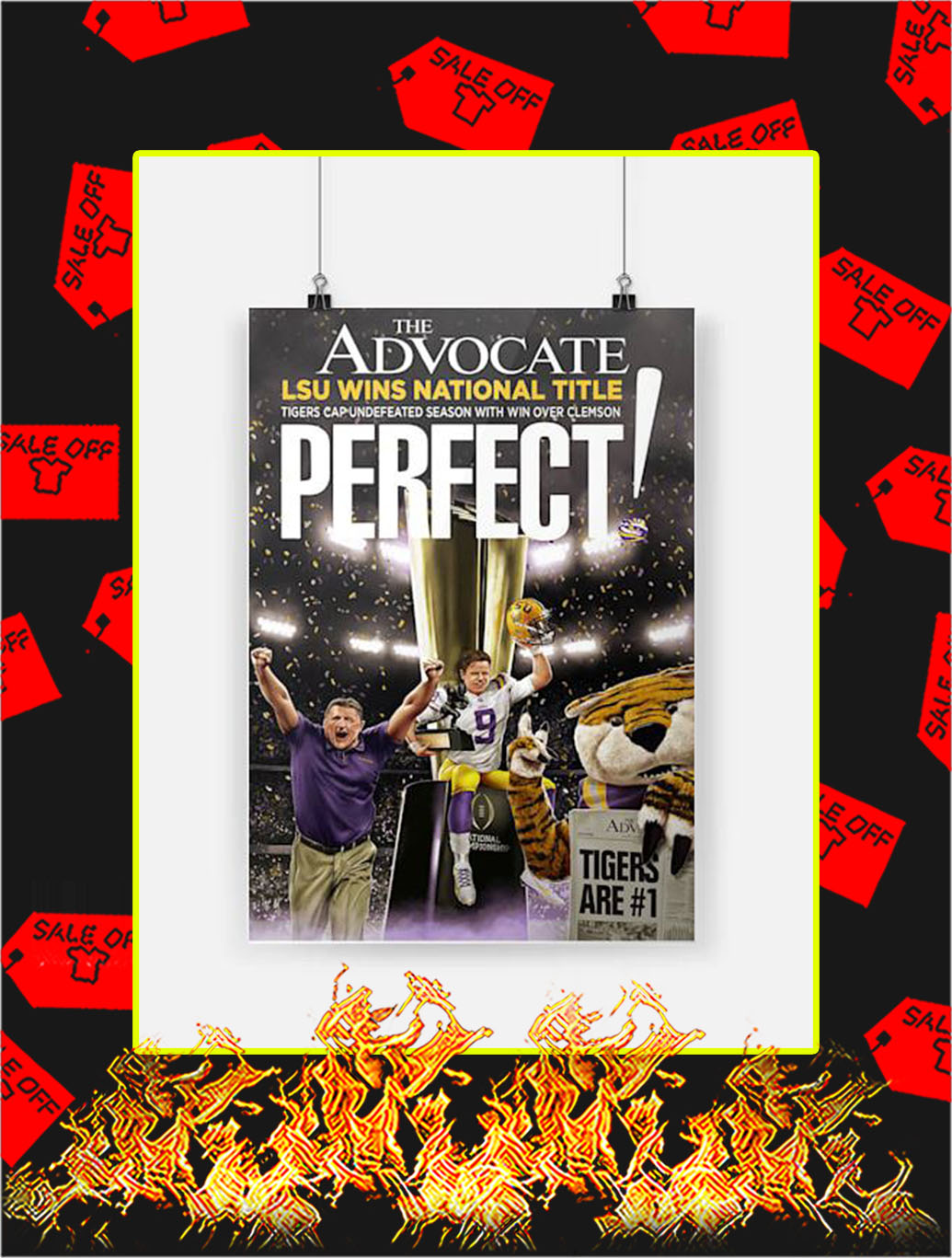 The Advocate LSU Wins National Title Poster- A4