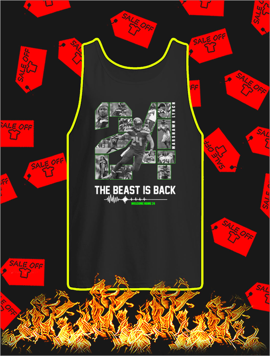The Beast Is Back Welcome Home 24 tank top
