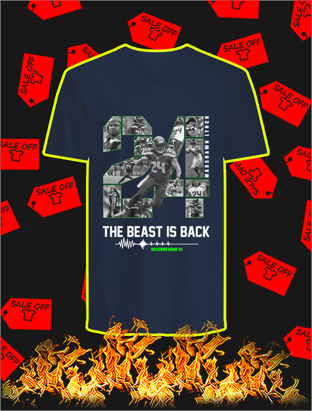 The Beast Is Back Welcome Home 24 v-neck